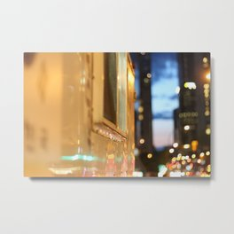 Hot dog cart light reflections Granville St Vancouver Metal Print