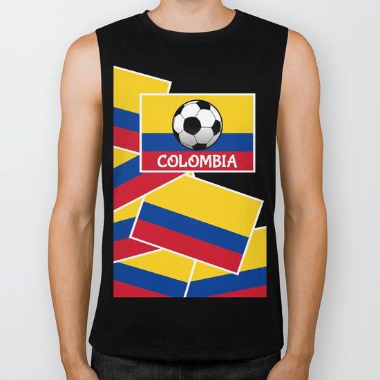 Colombia Football Biker Tank