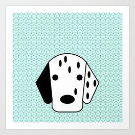 Pop Dog Dalmatian Art Print