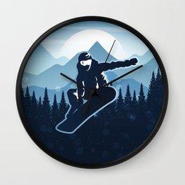 Royal Skiing - Attitude - Ski Snowboard Fly Skyline Wall Clock