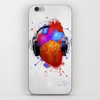 paramore iPhone & iPod Skins featuring No Music - No Life by Sitchko Igor