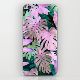 Tropical Night Magenta & Emerald Jungle iPhone Skin