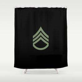 Staff Sergeant (Green) Shower Curtain
