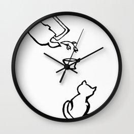 Flower tea Wall Clock
