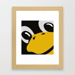 Linux tux Penguin eyes Framed Art Print