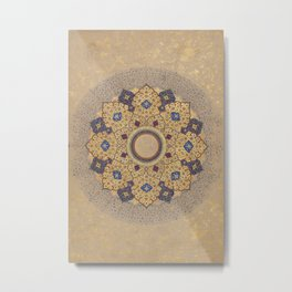 Rosette Bearing the Names and Titles of Shah Jahan Metal Print
