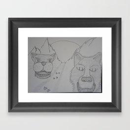 Hunter or hunted Framed Art Print