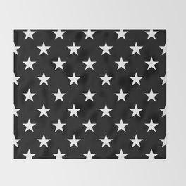 Stars (White/Black) Throw Blanket
