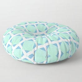 Mint and blue squares pattern Floor Pillow