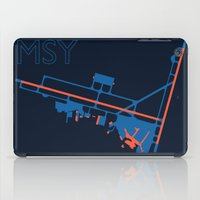 60s iPad Cases featuring New Orleans (MSY) - 60s by Kyle Rodgers