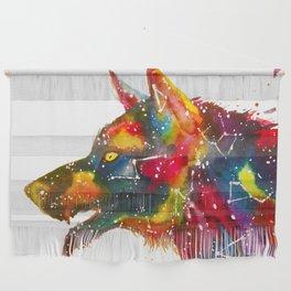 Galaxy Wolf Wall Hanging