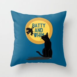 Batty and Whim Throw Pillow