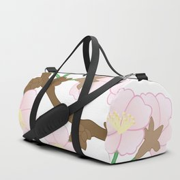 Abstract apple tree branch Duffle Bag