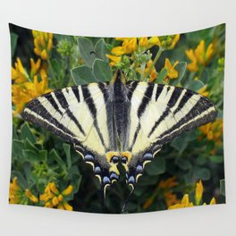 Scarce Swallowtail, Iphiclides Podalirius Wall Tapestry