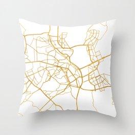KIEV UKRAINE CITY STREET MAP ART Throw Pillow