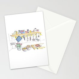 cozy kitchen in Berlin Stationery Cards