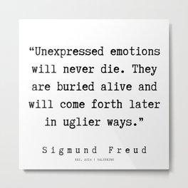 8  |   Sigmund Freud Quotes | 190926 Metal Print