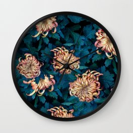 Сhrysanthemums Wall Clock