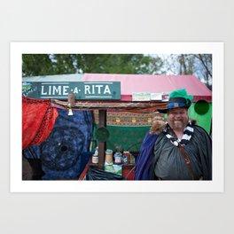 Ye Olde Lime-A-Rita Art Print