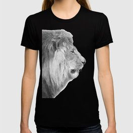 Black and White Lion Profile T-shirt