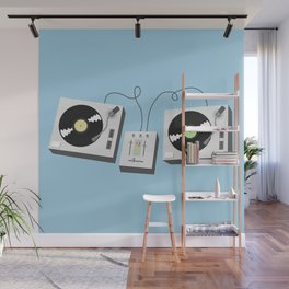 Turntables Wall Mural