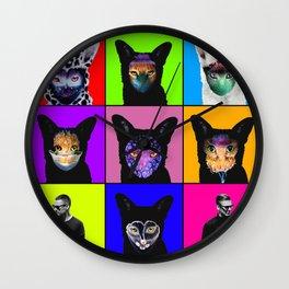 GALANTIS SEAFOX FAMILY POPART Wall Clock