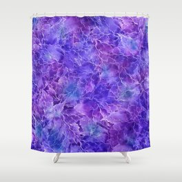 Frozen Leaves 20/a Shower Curtain