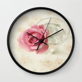 Vintage Textured Rose  Wall Clock