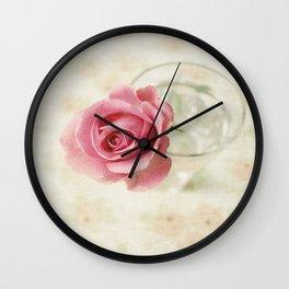 Vintage Textured Rose  Wall Clock