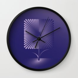 Violet square flower Wall Clock
