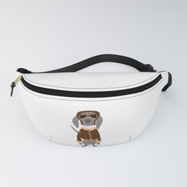 Weim Ace Pilot Grey Ghost Weimaraner Dog Hand-painted Pet Drawing Fanny Pack