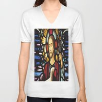 jesus V-neck T-shirts featuring JESUS. by Aldo Couture