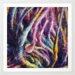 Rainbow strands Art Print