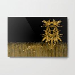 Something Lurking Metal Print