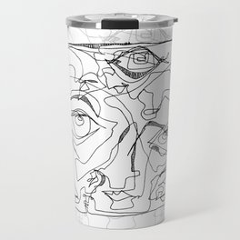 All Eyes on Me - b&w Travel Mug