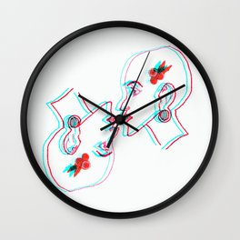 Androgynous - Out of focus Wall Clock