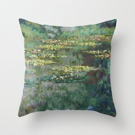 Water Lilies 1904 by Claude Monet Throw Pillow
