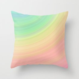 Abstract Pastel Rainbow I Cute abstract circles, gradient pattern Throw Pillow