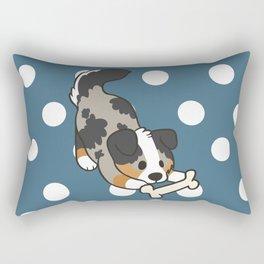 Aussie with Bone Rectangular Pillow
