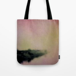 Misty Morning Lakeside Tote Bag