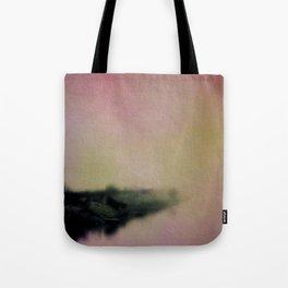 Misty Morning Lakeside Tote Bag