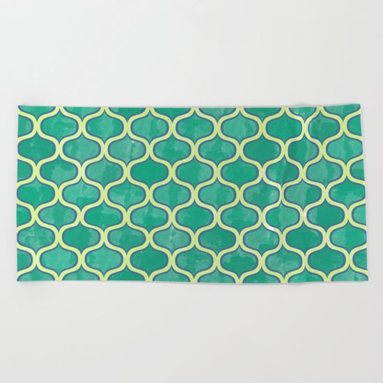 Watercolor Lovely Pattern VVV Beach Towel