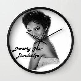 Diva Legacy Dorothy Jean Dandridge Wall Clock