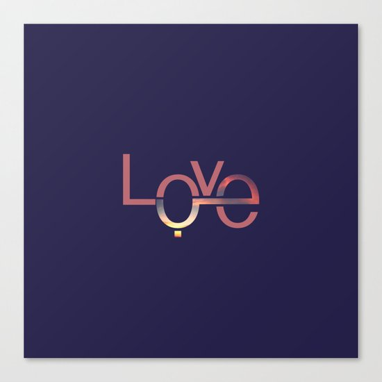 Love in English and Arabic Canvas Print