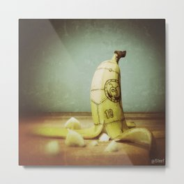 Moby's Little Idiot in a Banana Crash Metal Print