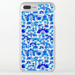 Exotic Garden Blue Clear iPhone Case