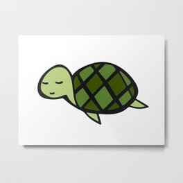 Peaceful Turtle Metal Print