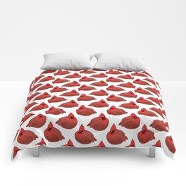 After Christmas cardinal bird Comforters