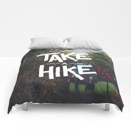 Take A Hike Comforters
