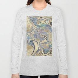 Liquid Gold Mermaid Sea Marble Long Sleeve T-shirt